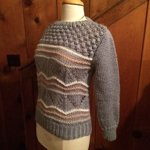 Vintage 80s Hand Knit Windcrest Sweater
